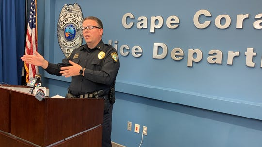 Cape Coral police Lt. Allan Kolak talks about the circumstances surrounding a death investigation in the city. A woman is dead from stab wounds and a man she was acquainted with is in the hospital with self-inflicted knife wounds in a Sunday night incident.
