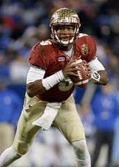 Here's a road map Trevor Lawrence could follow to the Heisman Trophy: Florida State's Jameis Winston (5) passed for 35 touchdowns with eight interceptions, rushed for three touchdowns and led Florida State to a 12-0 regular season before winning the Heisman in 2013.