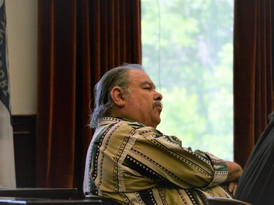 Robert Gonzalez watches as jury selection progresses in his trial for sexual assault Monday, June 17, 2019.