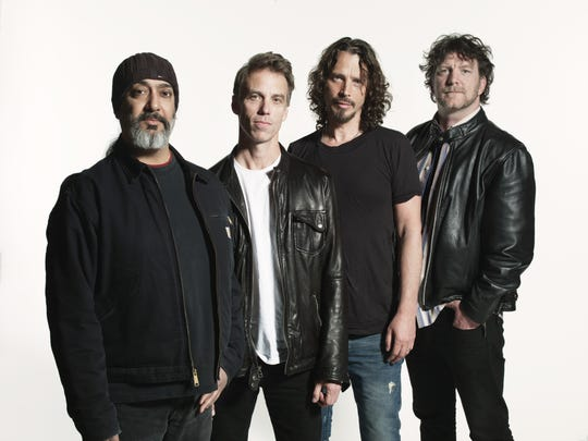 Soundgarden (from left, Kim Thayil, Matt Cameron, Chris Cornell and Ben Shepherd) is pictured in 2012.