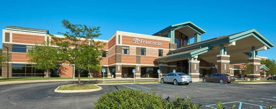 The front entrance of Franciscan Health Mooresville. It will benefit from about $23 million in infrastructure improvements.