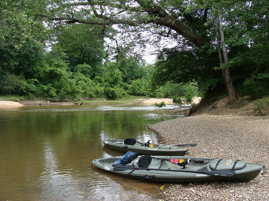 Sandbars and gravel bars on the Buttahatchee River offer opportunities to picnic, camp and relax.