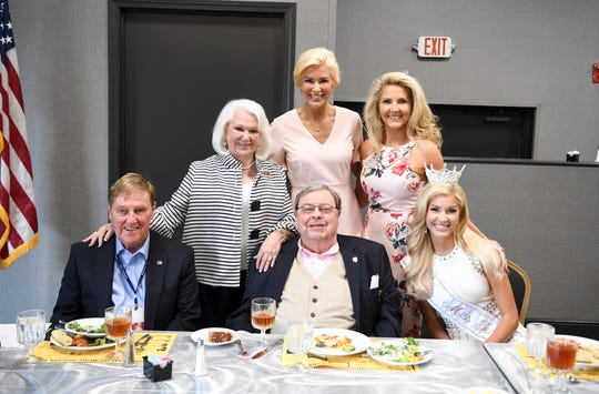 Jane Alderson, Allison Alderson DeMarcus, Carol Williamson, Jimmy Exum, Tom Hensley and Miss Tennessee Volunteer 2018 Christine Williamson