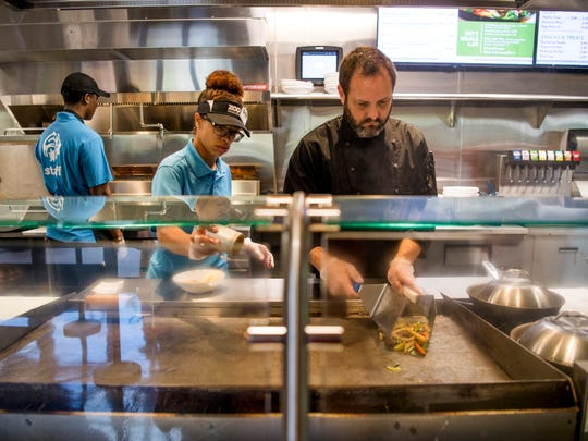 Zoo Knoxville guests eating at Beastro Cafe can watch their food be prepared while waiting.