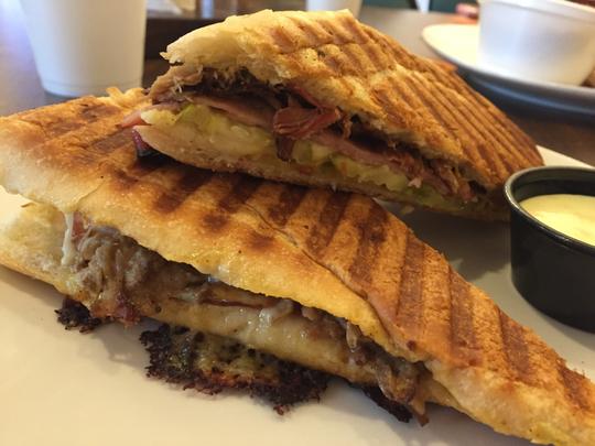 One item on the menu at VEGA Café & Smokehaus in Norris is the Laughing Cuban sandwich.