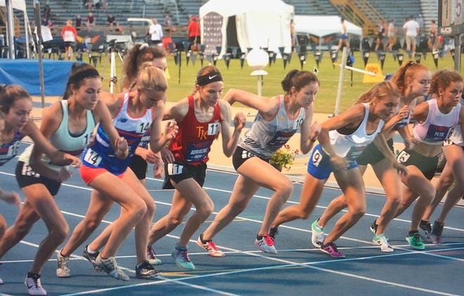 Pinckney's Noelle Adriaens (11) placed sixth in the 5,000 meters and seventh in the two mile at the New Balance Nationals Outdoor in Greensboro, N.C.
