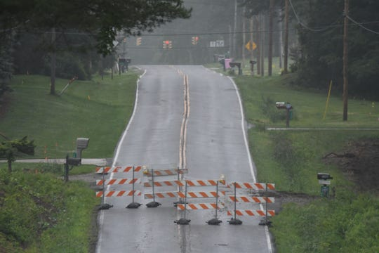 Barricades mark the closure of Millsboro Road between Home Road and Lexington-Springmill Road for an improvement project. The closing started Monday and is expected to last for 90 days according to the Richland County Engineer's website.
