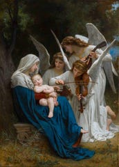 "Bouguereau's ""Virgin of the Angels"" (1881) is one of the artist's meticulously crafted religious scenes."