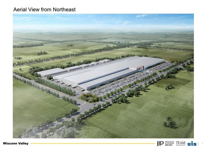 An artist's rendering of the planned Foxconn Technology Group factory in Mount Pleasant.
