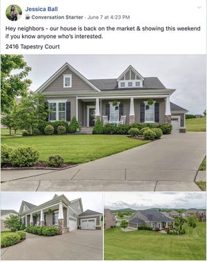 Homeowner Jessica Ball said she got lots of interest from neighbors and Realtors when she shared a post about it in her neighborhood Facebook site.