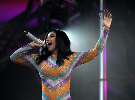 Cardi B performs at Bonnaroo Music and Arts Festival on Sunday, June 16, 2019 in Manchester, Tenn.