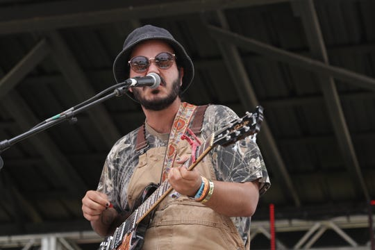 Alex Benick of Sun Seeker performs at Bonnaroo's Who Stage June 16, 2019, in Manchester, Tenn.