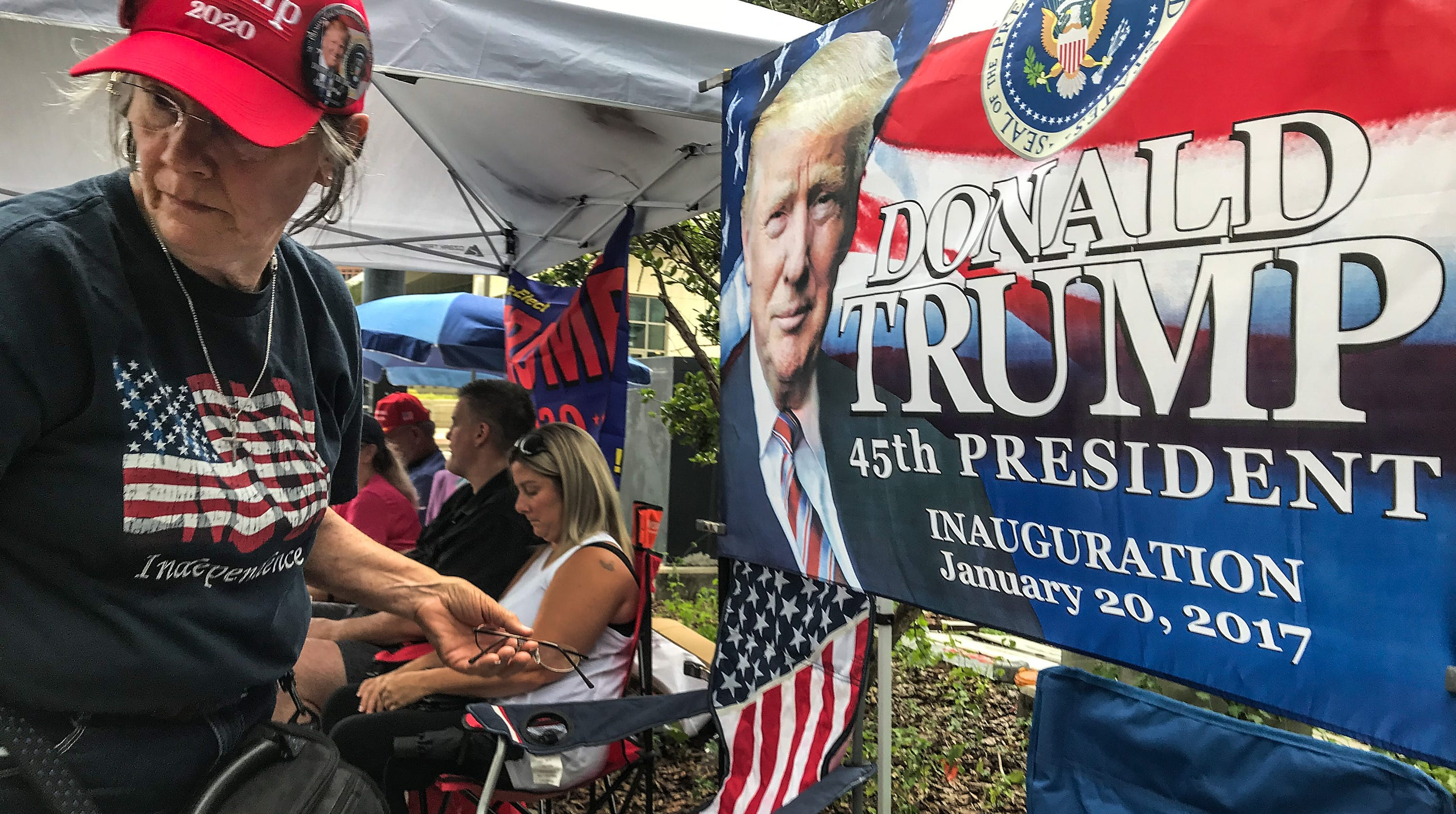 Donald Trump Rally In Orlando Supporters Arrive Early For
