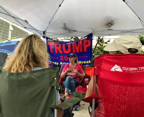 Arizona Trump fans fired up about president's re-election launch