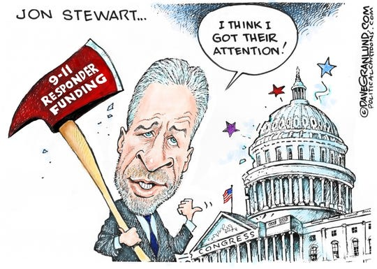 jon stewart took ax to Congress re. 9/11