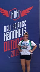Granville's Addison Hoover placed seventh in the hammer throw during the New Balance National Outdoor in Greensboro, North Carolina.