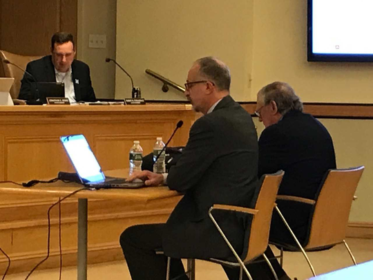 Mahwah Library Director Kurt Hadeler seeks council approval for a November referendum on increased income above the state funding formula.