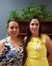 Pictured from left, Ms. Olivia Mireles, assistant principal of Columbus Elementary School and Ms. Viridiana Chacon, principal.