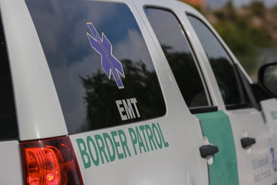 A Border Patrol EMT truck was present as authorities investigate a police shooting near Lohman Avenue and Telshor Boulevard on Monday June 17, 2019.