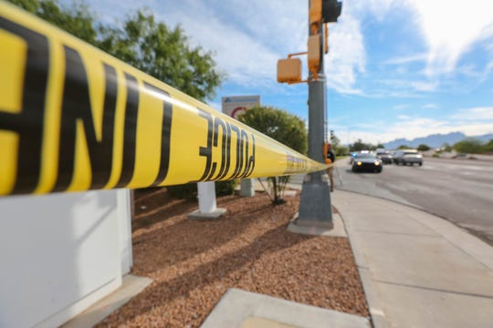 Las Cruces police investigate a police shooting near Lohman Avenue and Telshor Boulevard on Monday June 17, 2019.