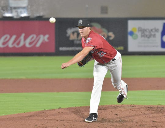Trevor Rogers pitches as a member of the South Division in the Florida State League All-Star Game on Saturday, June 15, 2019. Rogers came in for one inning of work, struck out two batters and didn't allow a hit or run scored. The South won, 2-0.