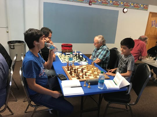 Mini Swiss chess tournament in Alamogordo.