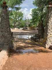 Last week the city closed down All Veterans Memorial Plaza and the middle parking lot on the north side of Berg Park due to saturated soil  that could cause trees to fall without warning and rising river levels that submerged parts of some trails.