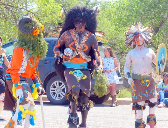 The July 4th cewlebration includes a colorful parade with dancers from all over Indian country.