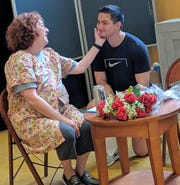 "A rehearsal of ""Good Morning, Miriam."" The play gives a picture of life with dementia."