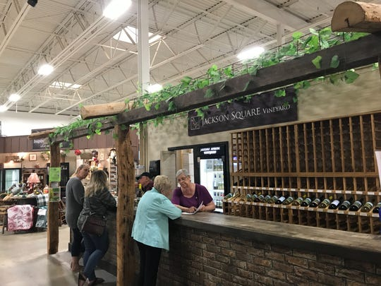 Jackson Square Vineyard, located at the Markets at Hanover, 1649 Broadway, offers 30 areawines of all different flavors.