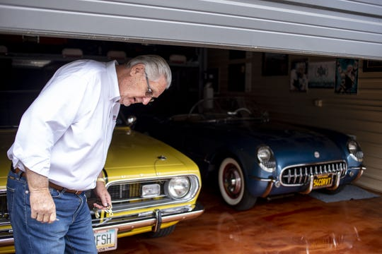 Paul Phillips opens a luxury garage unit on Wednesday, June 12, 2019, at Toy Barn in Cave Creek.