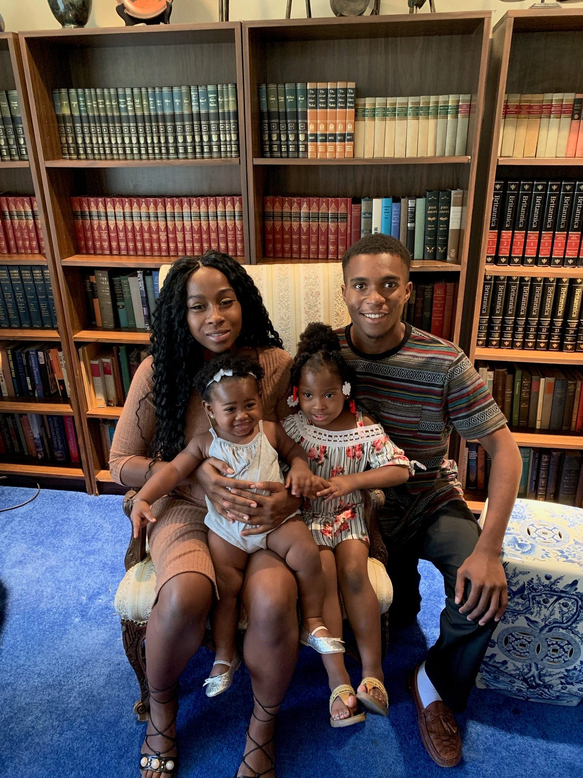 Iesha Harper and Dravon Ames and their two children.