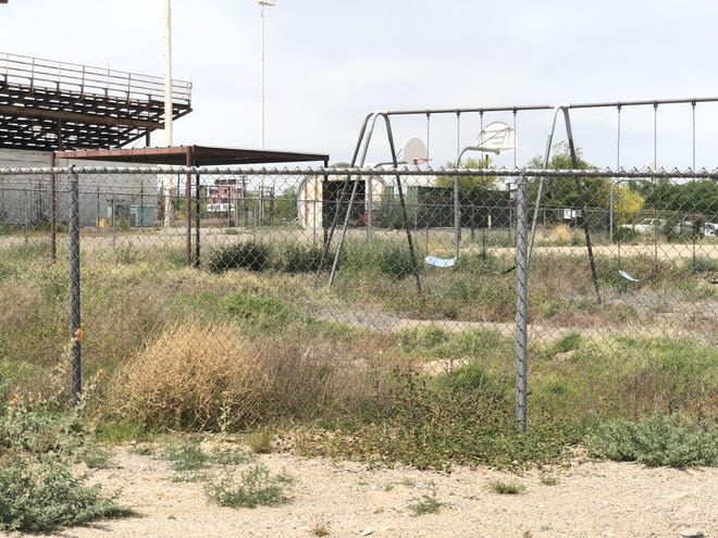 A playground in Ajo, Arizona, was shut down for more than a year because of sinkholes.