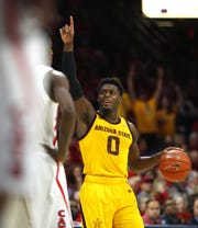 Will ASU's Luguentz Dort (0) be a first round pick in the 2019 NBA draft? Many recent NBA mock drafts think so.