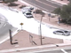 At the southbound on-ramp at Scottsdale Road to Loop 202 West in 2015, spilled concrete powder covered the ramp.