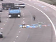 A collection of debris blocked the right lane of Loop 202 west at Scottsdale Road in 2015.