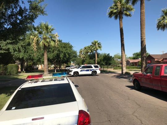 Phoenix Police investigate a shooting near 15th Avenue and West Culver Street on June 17, 2019.