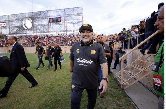 Diego Armando Maradona ya no dirigirá más a los Dorados de Sinaloa.
