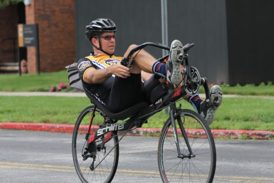 The Great Ohio Bike Adventure with more than 1,000 cyclists made their way to a camp at Terra State Community College on Sunday.