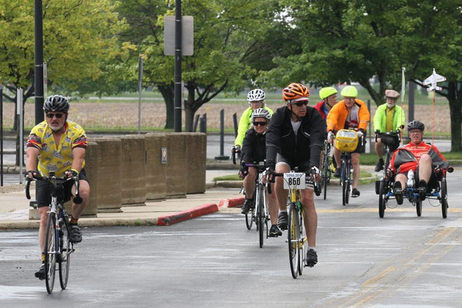 Thousands of cyclists participating in the Great Ohio Bike Adventure made their way to Port Clinton last week.
