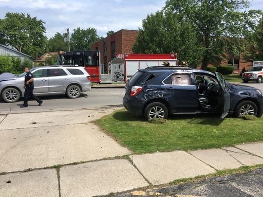 Rescue crews responded to a crash on Griswold Street near 11th Street in Port Huron shortly after noon Monday.