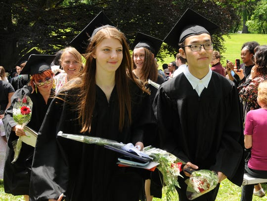 Caitlin Amann, of Beacon, and Ye Joe Chen of China, are 2019 graduates of Oakwood Friends School.