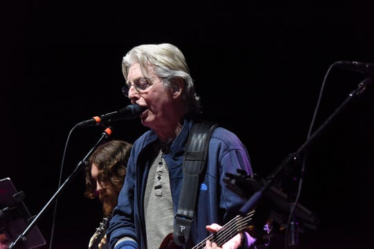 Phil Lesh and his son, Grahame, perform at Mountain Jam, on the Woodstock site at Bethel Woods Center for the Arts in Sullivan County, on June 15, 2019.