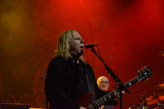 Warren Haynes of Gov't Mule performs at the Mountain Jam music festival, on the Woodstock site at Bethel Woods Center for the Arts in Sullivan County, on June 15, 2019.