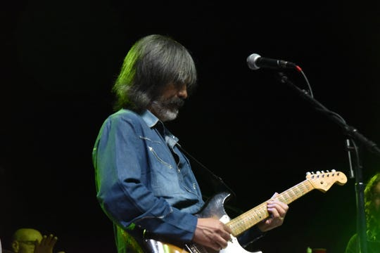 Town of Woodstock resident Larry Campbell performs with Phil Lesh & Friends at the Mountain Jam music festival, on the Woodstock site at Bethel Woods Center for the Arts in Sullivan County, on June 15, 2019.