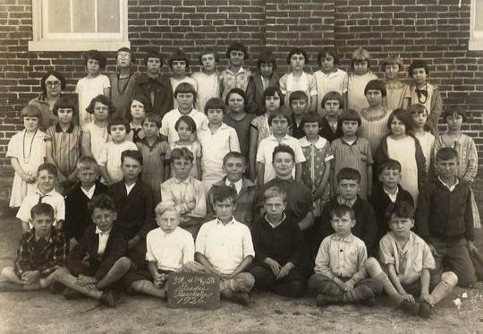 A class of Manchester Borough students in 1926.