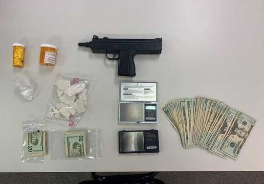 Drugs, cash, scales and a gun seized in the arrest of Johnny Villalona, 34, of York.