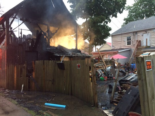 Richmond Fire Department extinguished a fire at a barn that served as a garage and apartment behind a South Ninth Street residence.