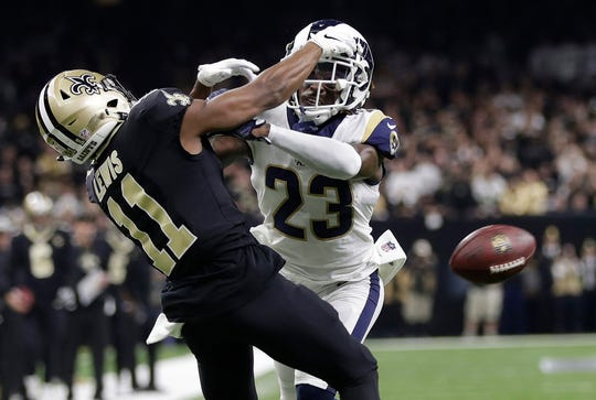 This non call on Rams' cornerback Nickell Robey-Coleman prompted the change in the pass interference challenge rule.