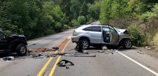 A crash left two dead Sunday afternoon near Donald.